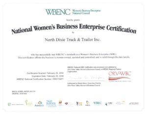 NDI WBENC Certificate