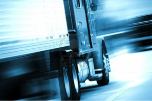 Picture of truck driving