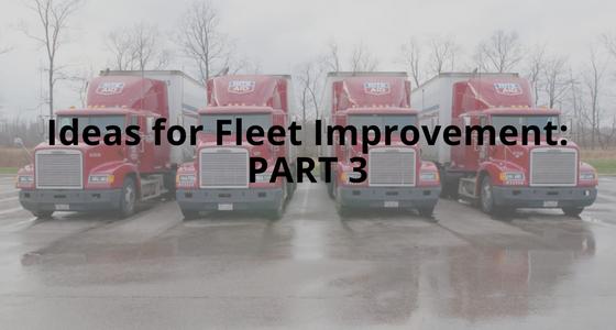 Ideas for Fleet Improvement Part 3